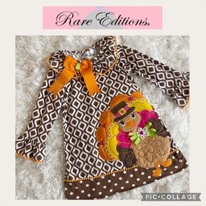 Rare Editions girls turkey dress